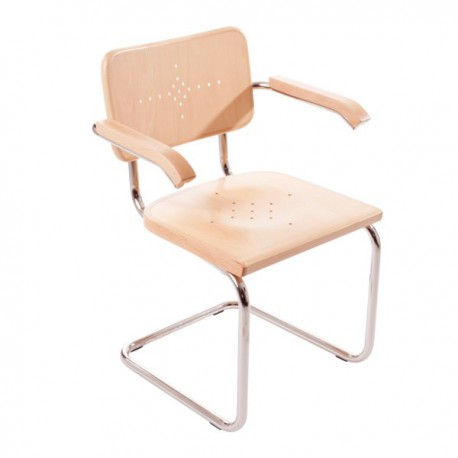 Bauhausstol med karm massiv