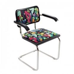 Bauhaustol med karm tygbeklädd