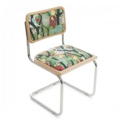 Bauhausstol utan karm natur/klädd Tyg Melody