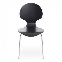 Bunny stol svartlackad/kromstativ
