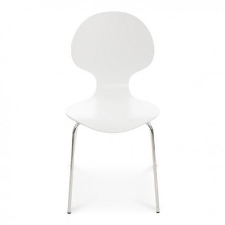 Bunny stol vitlackad/kromstativ