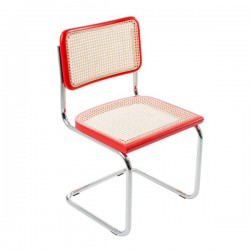 Röd Bauhausstol utan karm rotting