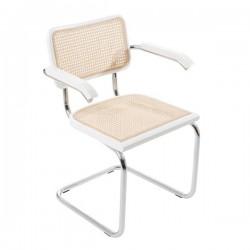 Vit Bauhausstol med karm rotting